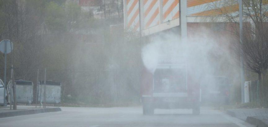 Foto/video: Vatrogasci ponovno dezinficiraju ulice u Prozoru