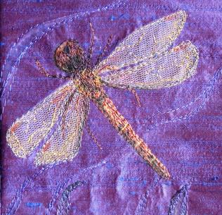 Detail of the dragonfly on my Lenten stole.