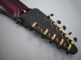金+黒 Hipshot チューニング・ペッグ付きプラム色10弦 Railboard
