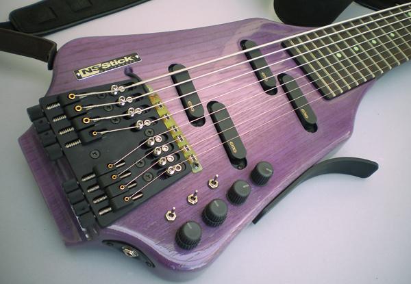 紫サンバースト仕上げアッシュ堅木材 NS/Stick