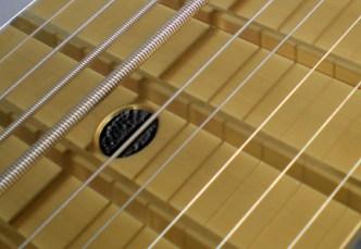 Black glitter ドット・インレイ付き金色 (Gold) 金属仕上げ Railboard
