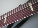 Glow (aqua色) ライン・インレイ付きえび茶色 (Maroon) 陽極酸化アルミ Railboard