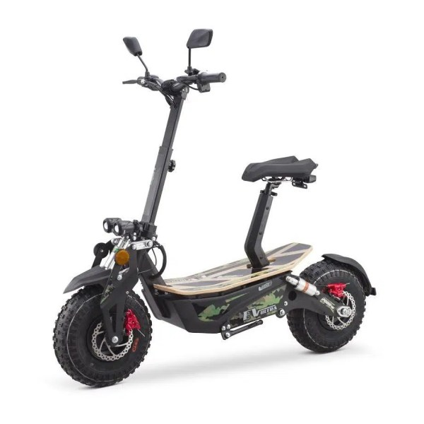 Ev Ultra Electric Scooter View 6 Army Green Decal