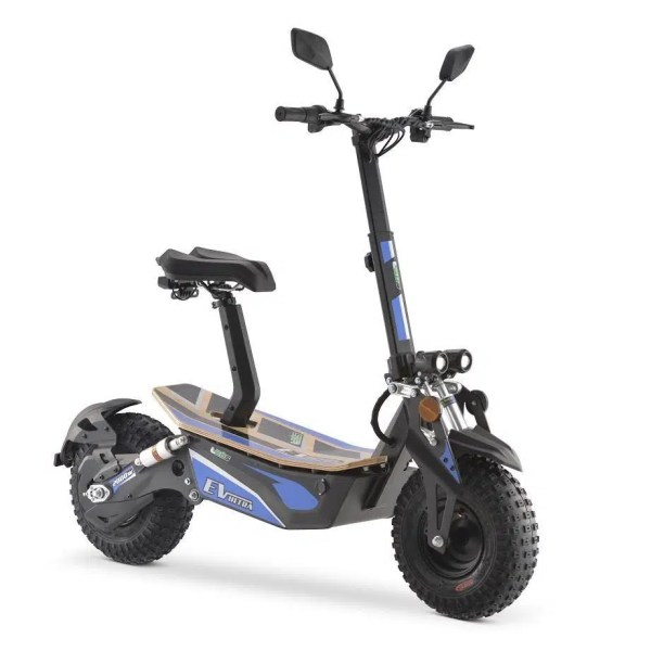 Ev Ultra Electric Scooter View 5 Blue Decal