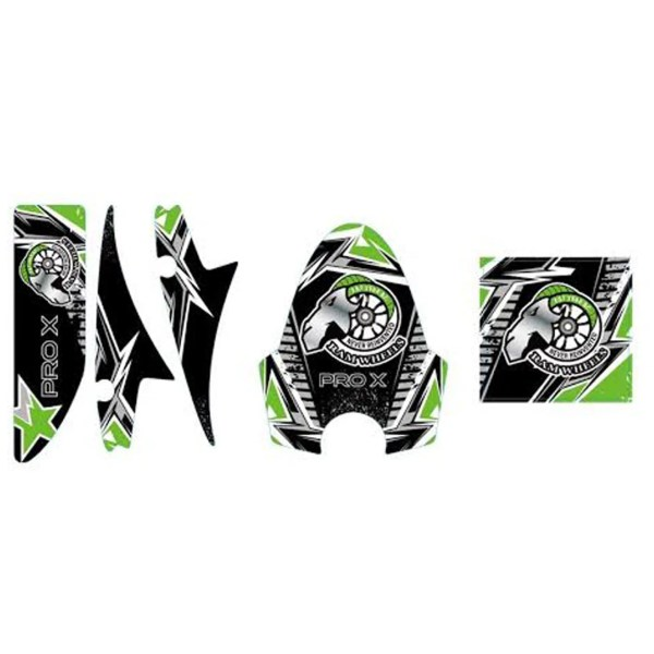 Pro X Green Decal Set 1600W 48V Electric Scooter