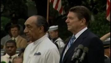 JR Jayewardene's visit to America on June 18, 1984