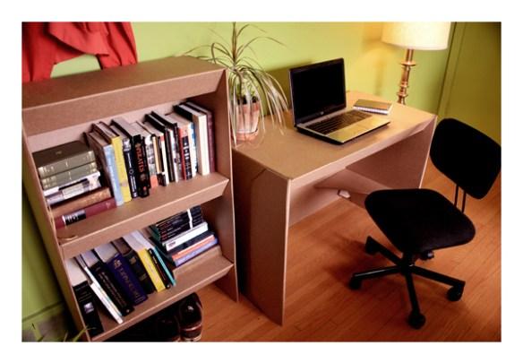 Office set made of cardboard