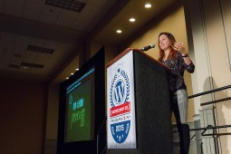 Sara Cannon at WordCamp US