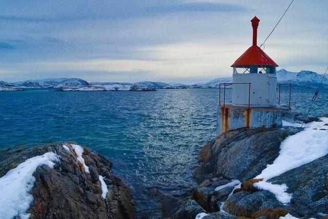 fyrlykt havet vinter