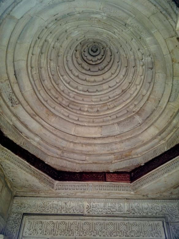 ceiling of the mosque