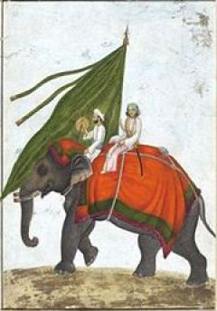 One_of_six_figures_from_the_Mughal_emperor's_ceremonial_procession_on_the_occasion_of_the_Id.