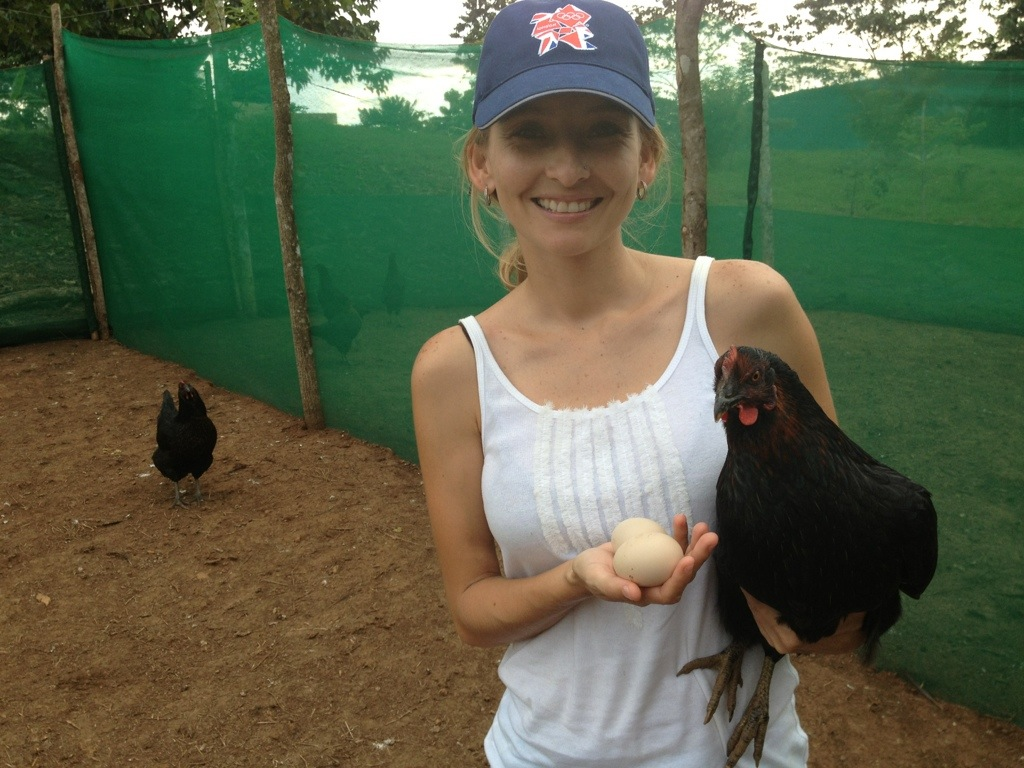 Our first chicken and egg.  Which came first?  Black Betty the chicken.