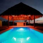 Pool at dusk