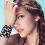 razor-cut tire rubber bracelet