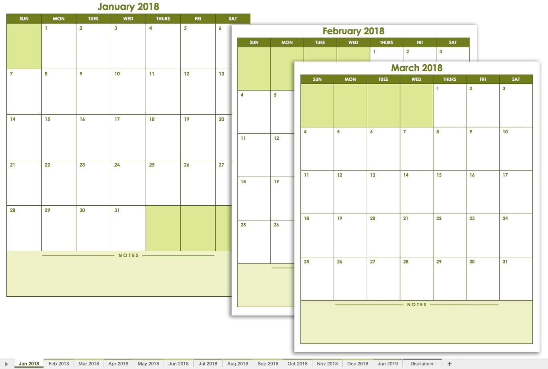 August Page 2 Template Calendar Design