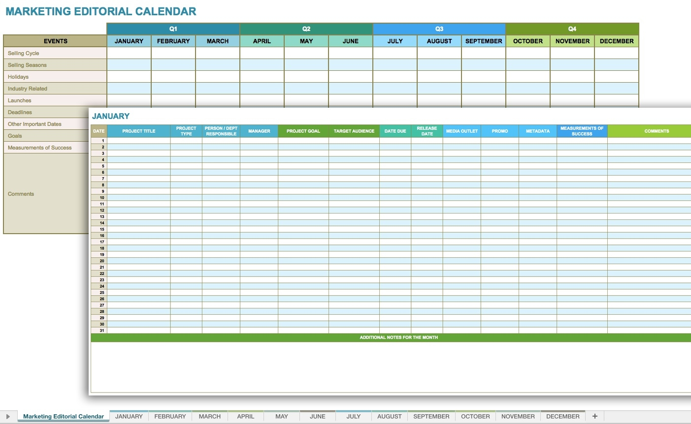 Blank Monthly Budget Excel Spreadsheet Template Calendar