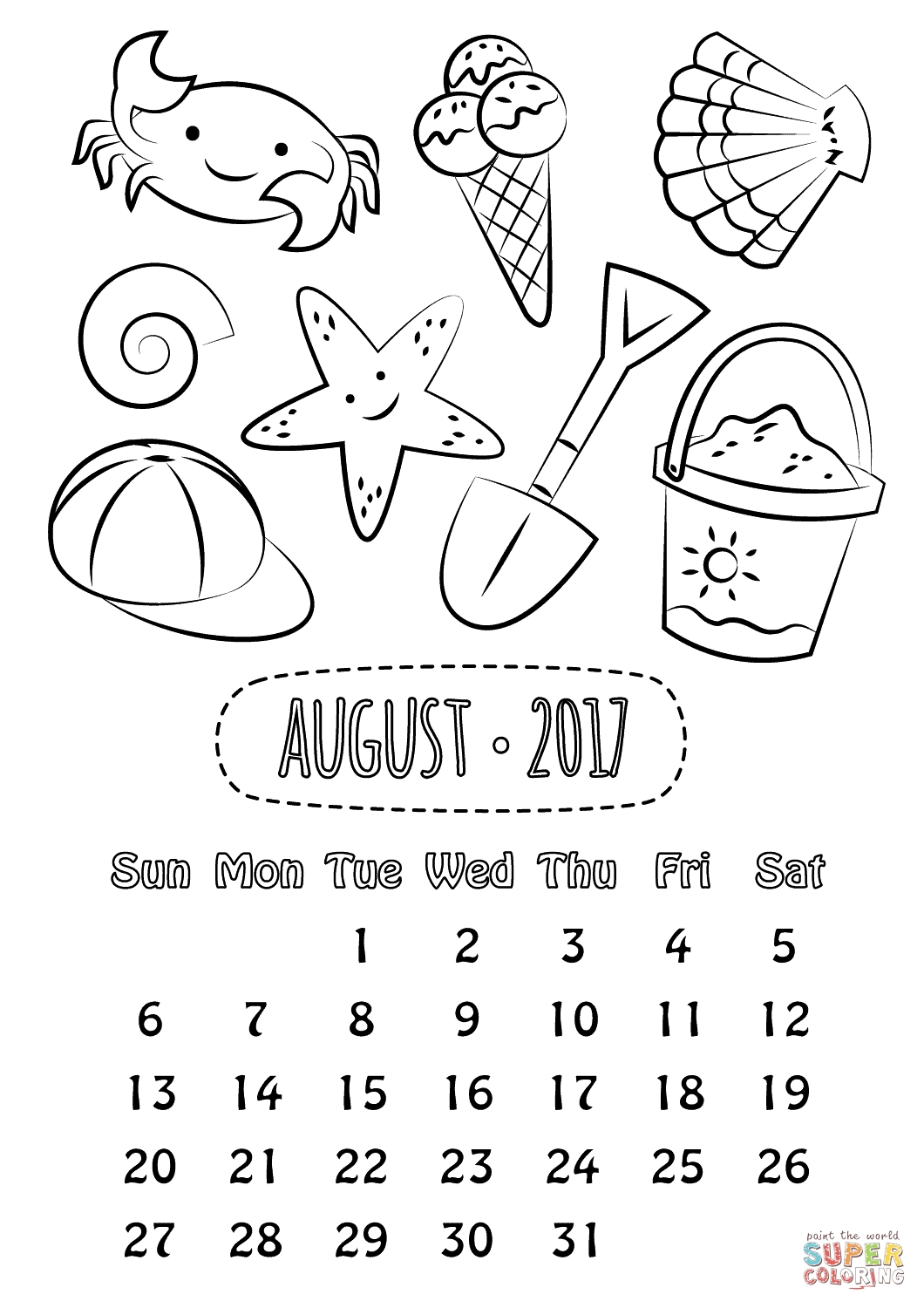 2019 Monthly Calendar Printable Free In Color