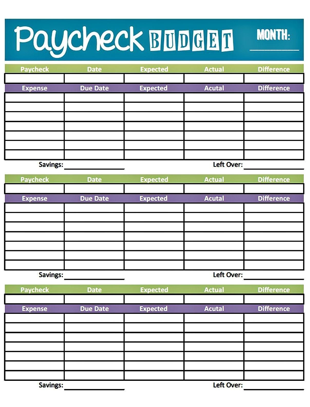 Weekly Bill Paying Worksheet Template Calendar Design