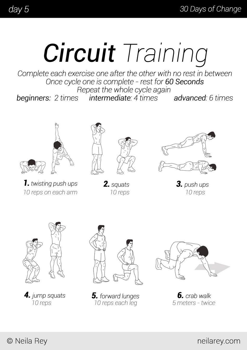 30 Exercise Chart For Beginners
