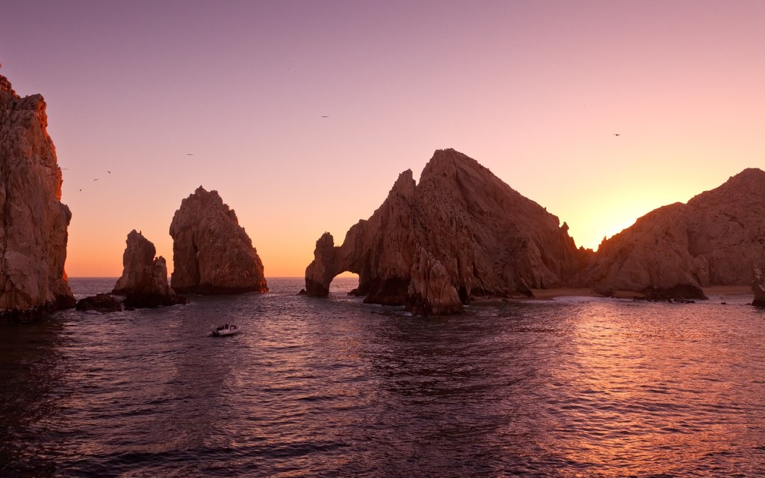 The Arch at Land's End during Sunset Cabo San Lucas Mexico