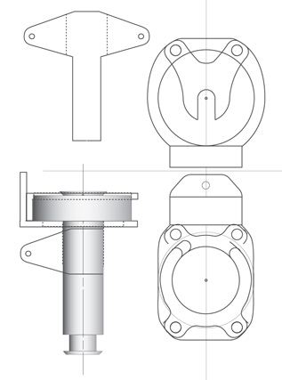 Roller furling swivel, furler swivel design prevents