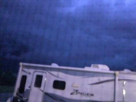 Lightening Glow just before storm hit