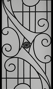 Alfred Wrought Iron Door Insert