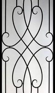Arthur Wrought Iron Door Insert
