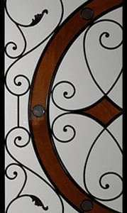 Bennington Stained Glass Door Insert