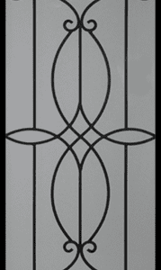 Birch Wrought Iron Door Insert
