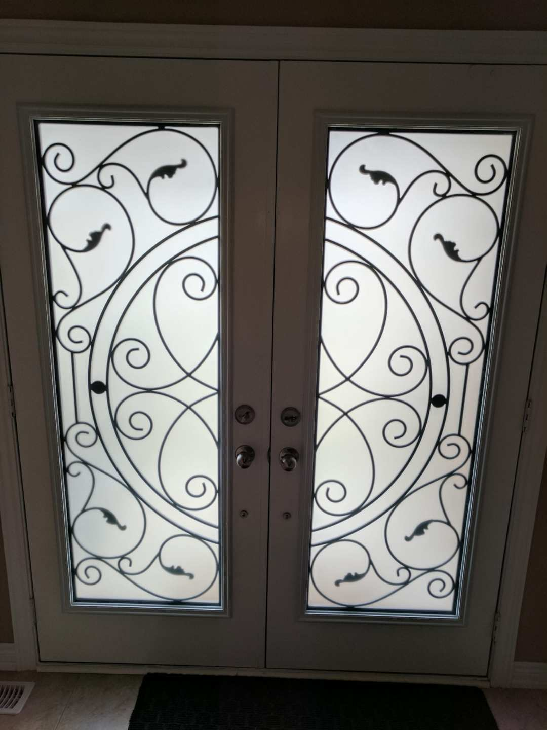 Wrought Iron  Door Inserts