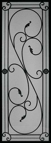 Long Bay Wrought Iron Door Insert