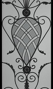 Mayfair stained glass door insert