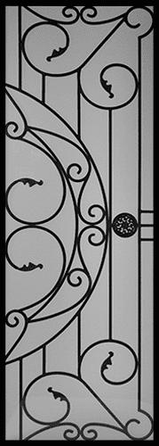 Selene Wrought Iron Door Insert