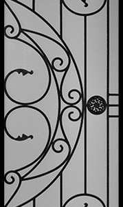 Selene Wrought Iron Door Insert