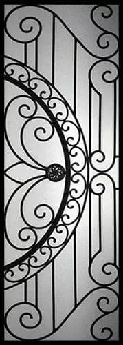 William Wrought Iron Door Insert