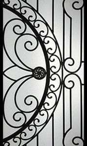 William Wrought Iron Door Insert