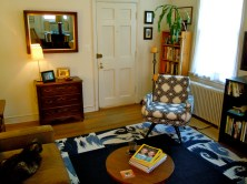 Acquisitions: new chair, new rug