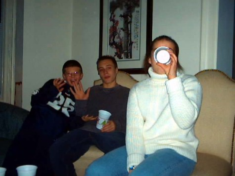 Craig, TJ & Laura in the living room.