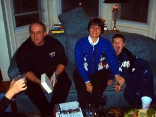 Dave, Ellen & Craig in the living room.