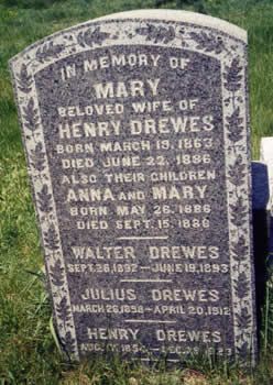 Steinberg - Drewes gravestone