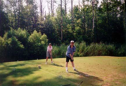 Glenda & Rand at the Hell's Point driving range: Virginia Beach, VA - 1997