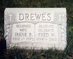 Irene & Fred Drewes gravestone