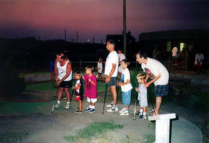 Dave, Craig, Steven, Steve, TJ, Chris, Rand: Sandbridge Mini-Golf, Virginia Beach, VA - 1997