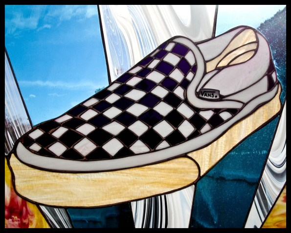 Vans Checkerboard Stained Glass