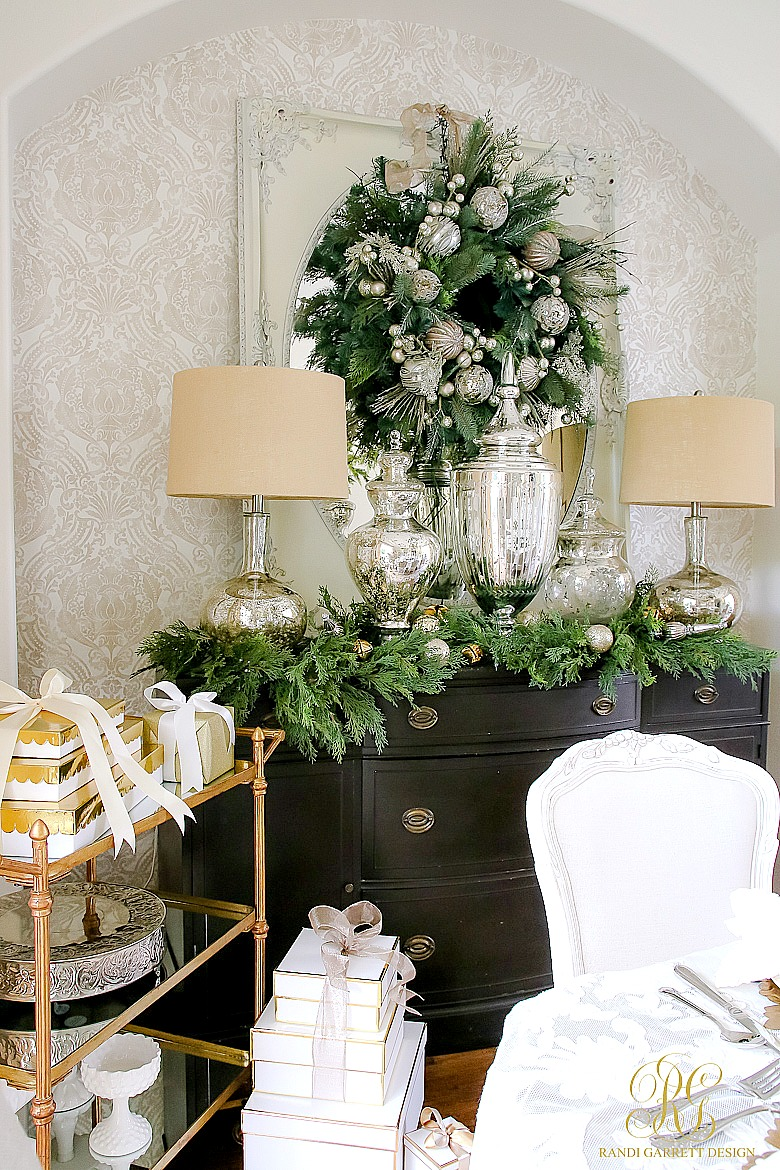 elegant dining room chairs carlo di carli white and gold christmas table scape