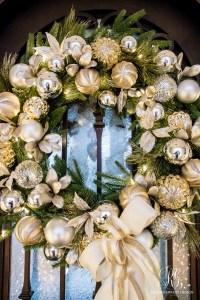 Silver and Gold Christmas Front Porch - Randi Garrett Design