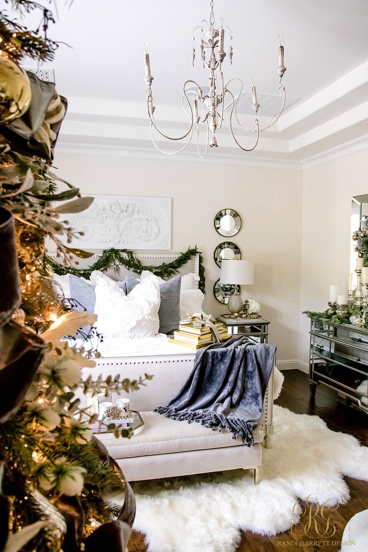 Simply Christmas Home Tour  Winter Wonderland Bedroom