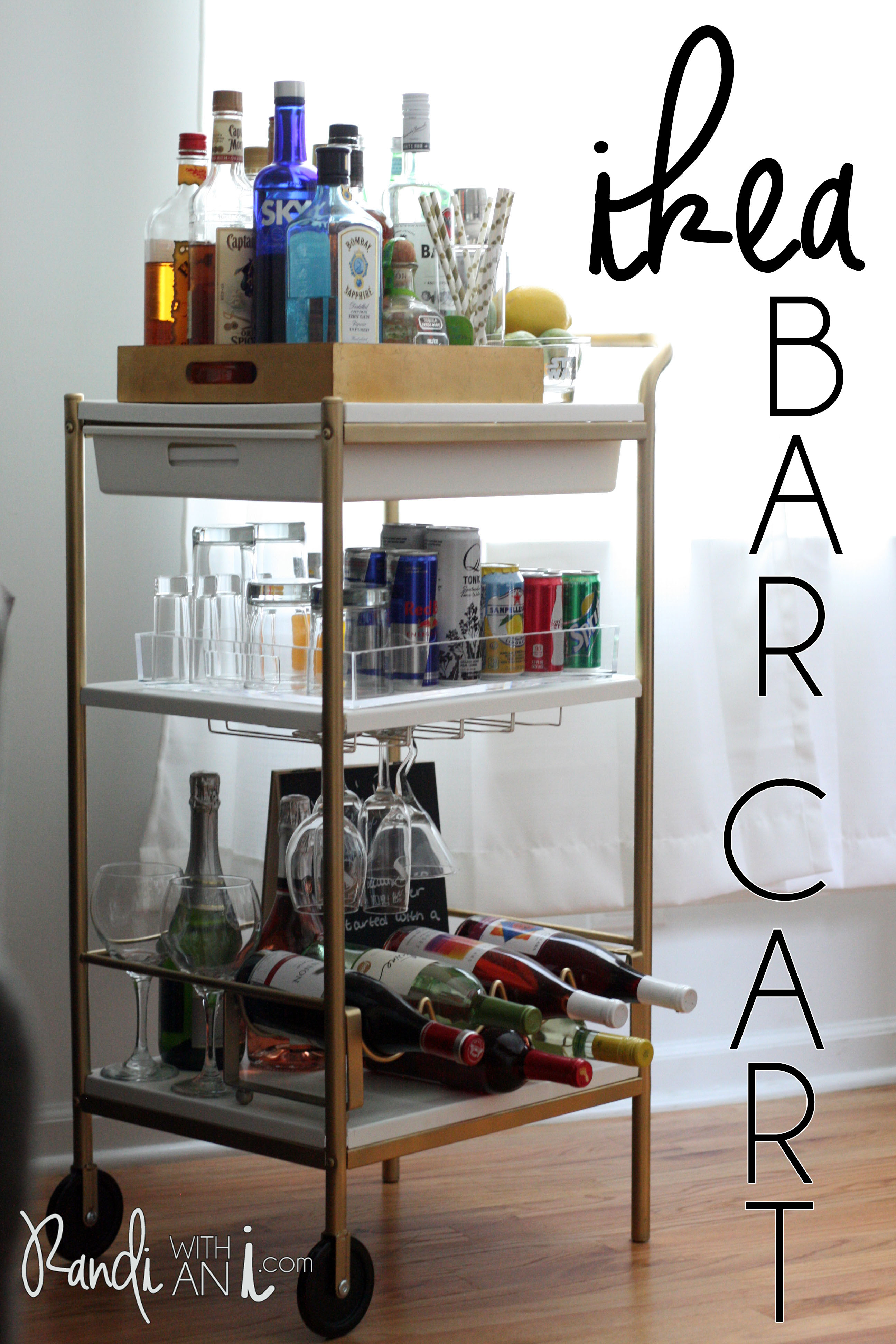 ikea bar cart hack randi with an i. Black Bedroom Furniture Sets. Home Design Ideas