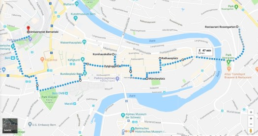 1 day in Bern map